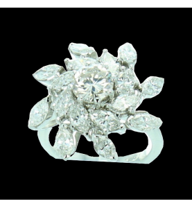 Ring creation GBT flower 5 Cts