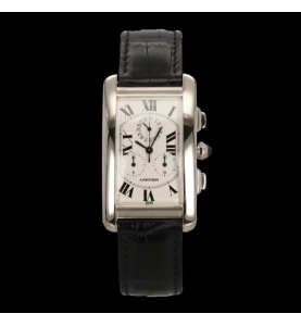 Cartier Tank Americaine Or Gris