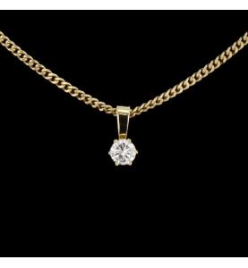 Halskette Solitaire Gelbgold 0.45 Karat
