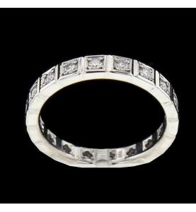 Eternity Ring Gold Grau 18 Diamanten