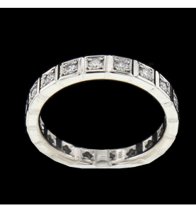 Eternity Ring Grey Gold 18 Diamonds