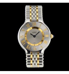 Cartier Must 21 or et acier
