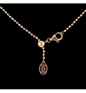 "Cartier Doppelkugel Halskette ""C"""