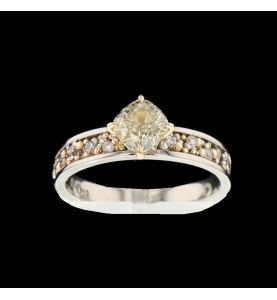 Solitaire ring 2 golds