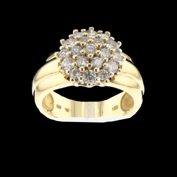 Bague or jaune diamants 1.00 carats