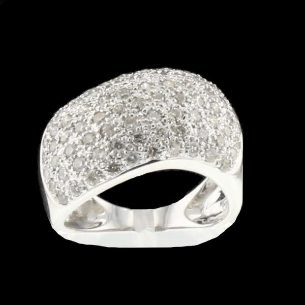 Bague or gris 1.4 carats