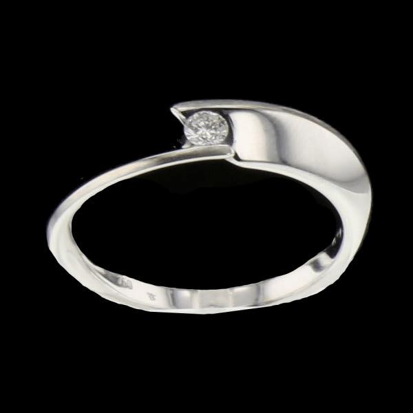 Bague or gris diamant