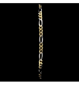 Bracelet maille figaro bicolore