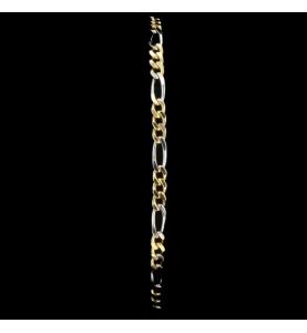 Two-tone figaro mesh bracelet