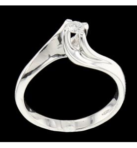 Solitaire Or gris diamant...
