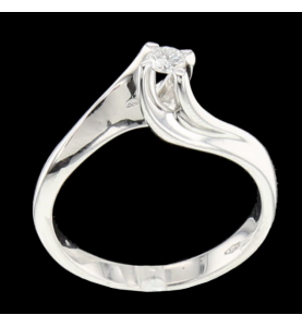 Solitaire Or gris diamant 0.16 carats