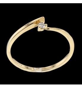Solitaire Or jaune diamant 0.03 carats