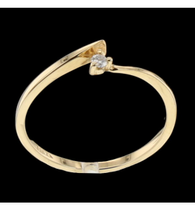 Solitaire Yellow Gold Diamond 0.03 carats