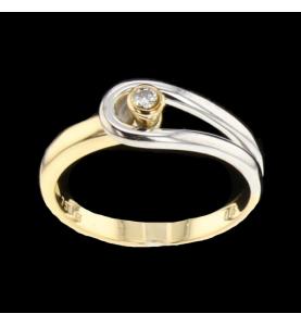 Solitario 2 Diamanti Oro