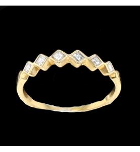 Bague en or jaune diamants...