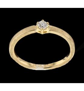 Solitaire Gelbgold und Diamant