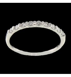 Bague or gris diamants 0.18...