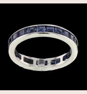 Eternity Ring Gold Grau Saphire