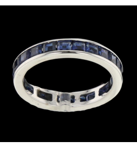 Eternity Ring White gold sapphires