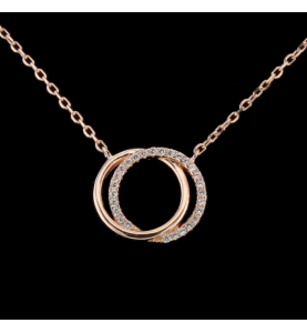 Pendant two silver rings