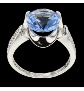 Ring Silber und blauer Stein