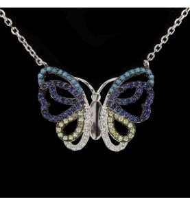 Silber Schmetterling Anhänger