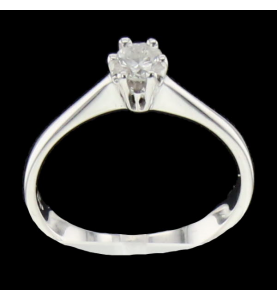 Solitaire or gris diamant  0.23 Carats
