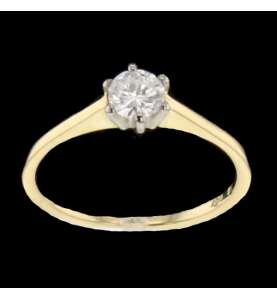 Solitaire or jaune 0.3 cts