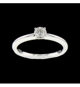 Solitaire white gold 0.30 carats