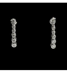 Gold Ohrringe graue Diamanten