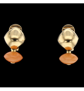 Earrings Coral yellow gold