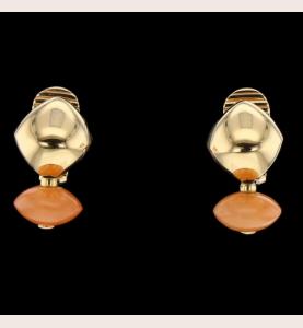 Ohrringe Korallengold Gelbgold