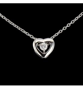 Collier Pendentif Coeur 1 Diamant