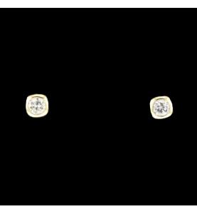 Nails Yellow gold 2 x 0.25 carats