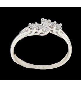 Ring Gold grau Diamanten