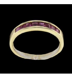Triple yellow gold ring