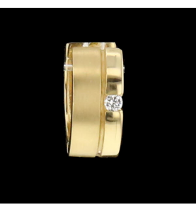 Creoles Yellow Gold and Diamonds