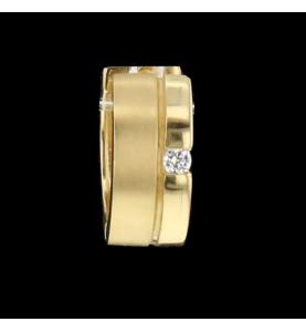 Kreolen Gelbgold und Diamanten