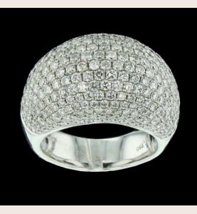 Ring White Gold paved diamonds