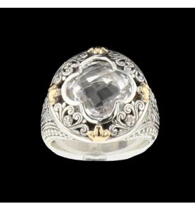 Ring aus Silber 925 synthetischer Stein