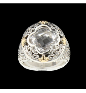 Silver ring 925 synthetic stone