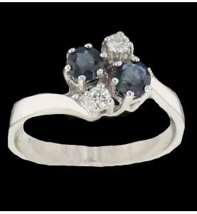 Sapphire and diamond white...