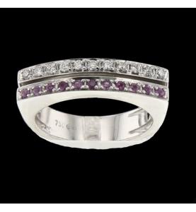 Ring gold gray diamonds...