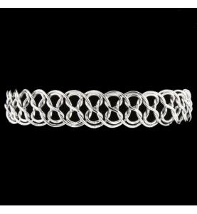 """Bracelet en or gris 750 maille """"8"""""""