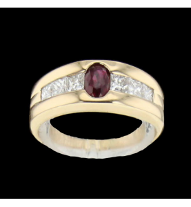 Ruby yellow gold ring and...