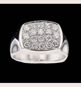 Knight gold-gray diamonds