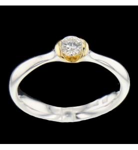 Ring zwei Gold 0.23 Karat