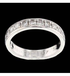 Bague Or gris 15 Diamants
