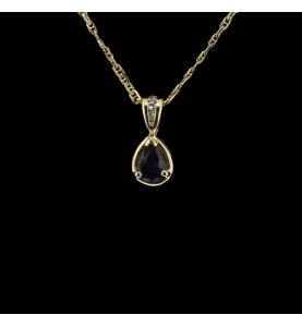 Saphir Gelbgold und Diamanten