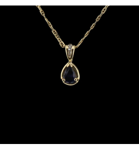 Sapphire yellow gold and...